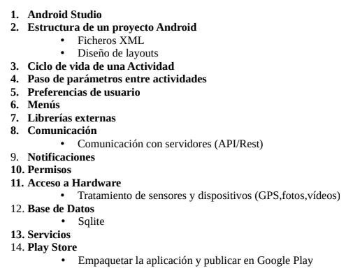 temario del curso android gratuito de walkiriaapps